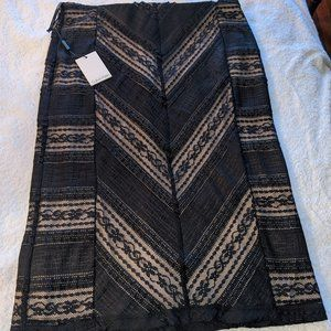 Calvin Klein Black Lace Skirt with Nude Lining